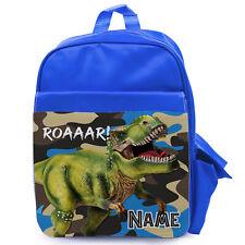 Personalizzata Dinosauro Ragazzi Scuola Borsa Zaino per Bambini Carino Vivaio KS228
