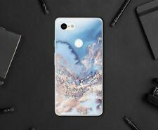 Colorful Blue Case Google Pixel 3 XL 3A XL Silicone Marble Cover For Pixel XL 2