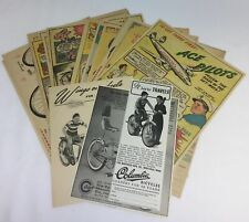collection of 22 COLUMBIA BICYCLE ads ~ 1930s-1970s