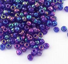 Rocailles Perlen 3mm 8/0 Cobalt Blau AB Irisierend 450g Glasperlen Schmuck A164