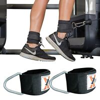 Gym Ankle Cuff Pulley D Ring Straps Weight Lifting Strap Multi Cable Attachment