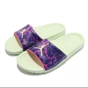 """Nike Jordan Break Slide -  """"Luka"""" Cosmic Lime Purple  Men's 10 DJ9803-300 NEW"""
