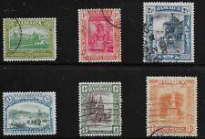 Jamaica Scott #75-76 & 79-83, Singles 1919-21 FVF Used