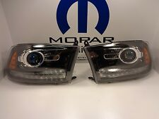 13-15 Dodge Ram 1500 New Projector Headlamp Black Left & Right Set of 2 Mopar Oe