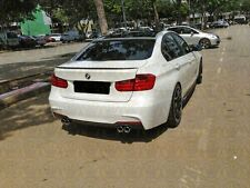 BMW F30 Carbon Fiber 3-Série 4D SALOON Boot Lip Spoiler Wing 2012-17 UK Vendeur