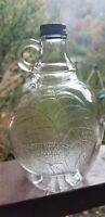 Nice Apple Vinegar Finger Ring Handled Quart Jug Patent Pending