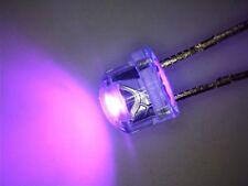 100 x UV-LED 5mm straw hat ultraviolett Kurzkopf 110° 390nm purple