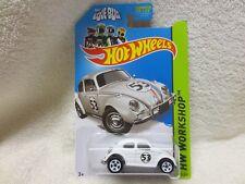 VW LOVE BUG HERBIE BEETLE VOLKSWAGEN HOT WHEELS LONG 2013 CARD 191/250