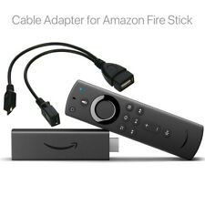 Tv Stream Usb Port Adapter Micro Otg Cable Power for Amazon Firestick Media