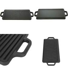 Cast Iron Reversible Grill Griddle 17 x 9 Pan Hamburger Steak Stove Top Fry