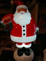 """Christmas Blow Mold SANTA CLAUS Light Lighted Tabletop NEW Battery Operated 14"""""""