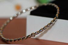 AUTHENTIC NEW PANDORA RETIRED DIAMOND 14K GOLD BANGLE BRACELET 490106D RARE!