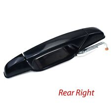 Black Outside Outer Door Handle Right Rear For 07-13 Chevy GMC Cadillac 15915620