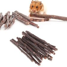 20Pcs Parrots Hamster Chew Stick Apple Tree Branch Squirrel Rabbits Natural Toys