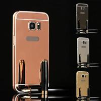 Aluminum Metal Bumper Skidproof Case PC Mirror Back Cover For Samsung Galaxy S7