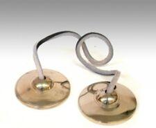 """Solid Brass Plain Tibetan Cymbals 3.5"""" D #94"""