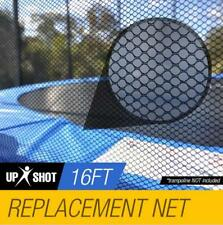 16ft Trampoline Safety Net Round Spare Part Enclosure 12 Pole Replacement