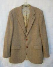 Nino Cerruti Paris Double Vented Herringbone Tweed Sport Coat Jacket Blazer 38