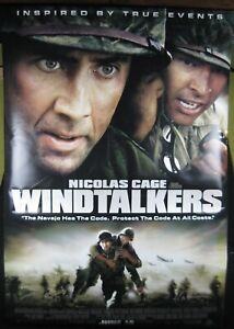 Large 2002 WINDTALKERS WWII Movie Vinyl Theater Banner 2-Sided