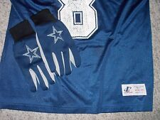 VINTAGE Dallas Cowboys Aikman #8 Jersey M(42-44)& GLOVES & CAN COOZIE LOT