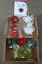 CRAFT BUDDY Forever Flowers PRETTY POINSETTIA KIT make 120 + tool CHRISTMAS