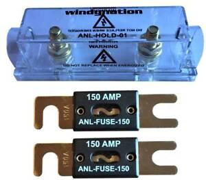ANL Fuse Holder Fuseholer + 2pcs ANL Fuses for Inverter, Car, Audio