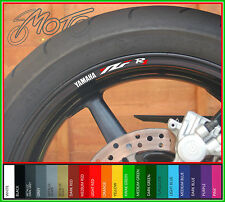 8 x Yamaha YZF R1 Wheel Rim Decals Stickers - Choice of Colour - 1998 99 1000 01