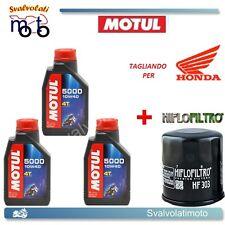TAGLIANDO FILTRO OLIO + 3LT MOTUL 5000 10W40 HONDA VT 600 SHADOW 2007