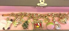 Juicy Couture Christmas Theme Charm Bracelet  with 6 retired charms