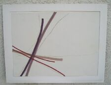 Kitty Klaidman 1979 Modern Abstract Silk Ribbon Collage Triptych Wall Art Signed