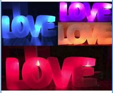 Custom made 10ft x4ft  inflatable LED lights  letters LOVE party events supplies