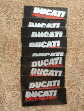 DUCATI MONSTER Fuel Tank 696 1199 Sliver Red Reflective Decal Rim Stickers Set