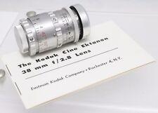 Rare Kodak Cine Ektanon 38mm F2.8 D Mount Prime Lens Pentax Q Q7 Q10 QS1 Camera