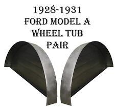 1928 1929 1930 1931 Model A Ford Steel Wheel Tubs Coupe & Roadster  New Pair!!