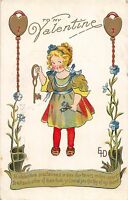 A52/ Valentine's Day Love Holiday Postcard 1910 Cleveland Ohio Keys EHD Signed 7