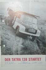 * Tatra 138 Startet Lastwagen Prospekt ca. 1960 *