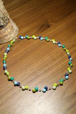 Neu unikat grün blau Polariskette Halskette Polaris perlen kette hellgrün