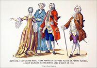 MATRONE, JEUNE FEMME & GENTILHOMME (1762) - Gravure 19e (d'après Horace Vernet)