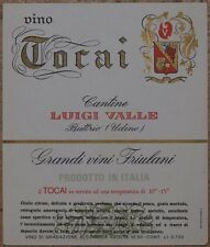 ETICHETTA VINO WINE VINO TOCAI CANTINE LUIGI VALLE FRIULI VENEZIA GIULIA 1970'S