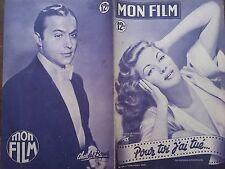 """MON FILM 1949 N 169 """" POUR TOI J'AI TUE """" YVONNE DE CARLO et  BUURT LANCASTER"""