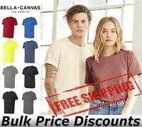 Bella + Canvas Unisex Blank T Shirt Cotton Polyester Texture Tee 3650 up to 2XL