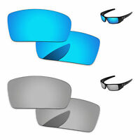 PapaViva Silver &  Ice Blue Polarized Replacement Lenses For-Oakley Gascan