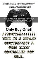 xbox one Elite controller repair service - 1 day turn around - LIFETIME WARRANTY
