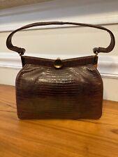 New listing Vintage 1960's Bellestone Purse, Brown Lizard, Excellent Condition