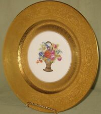 ANTIQUE/VINTAGE LIMOGES DECORATIVE/ELEGANT DINNERWARE PLATE FLORAL w/GILT DESIGN