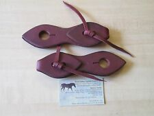Rose Lodge Teardrop 2 PC SLOBBER STRAPS 4 Mecate Horse Reins USA FREE SHIPPING