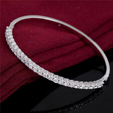 Hot Jewelry Wholesale Shiny Crystal Rhinestone Silver Fashion Bracelet Bangle