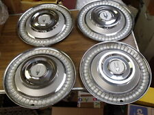 """NOS Set of 4 1966 Studebaker Accessory Hubcaps Full Wheel Covers ~ AC-3563 15 """""""