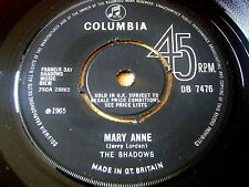 "Le ombre-Mary Anne 7"" in vinile"