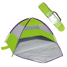 Green Grey Beach Garden Play Tent Sun Shade with Sand Pockets, Zip Up Door & Bag